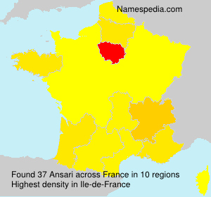 Familiennamen Ansari - France