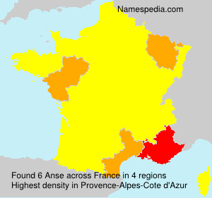 Surname Anse in France