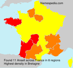 Surname Ansell in France