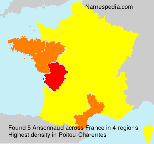 Surname Ansonnaud in France