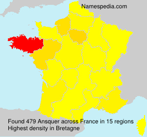 Surname Ansquer in France