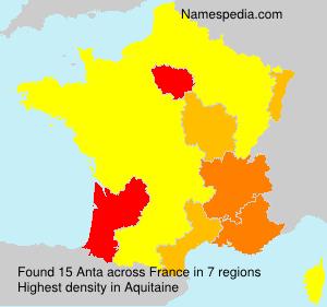 Surname Anta in France