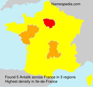 Familiennamen Antalik - France