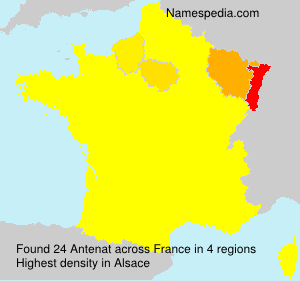Surname Antenat in France