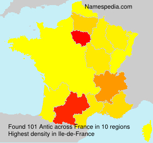 Surname Antic in France