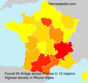 Surname Antiga in France