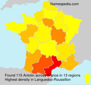 Familiennamen Antolin - France