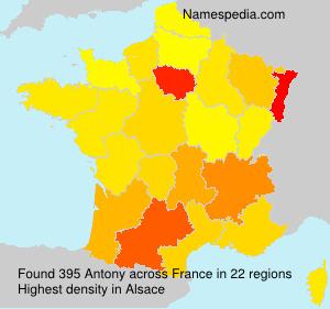 Surname Antony in France