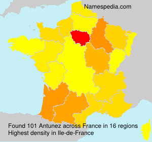 Surname Antunez in France