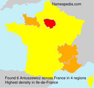 Surname Antuszewicz in France