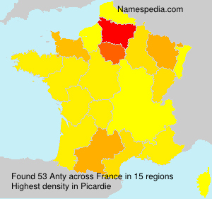 Familiennamen Anty - France