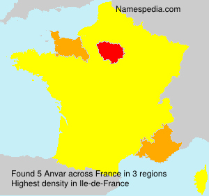Surname Anvar in France