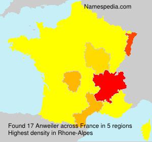 Familiennamen Anweiler - France