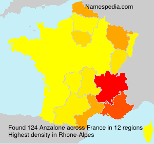 Surname Anzalone in France