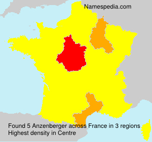 Surname Anzenberger in France