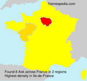 Surname Aok in France