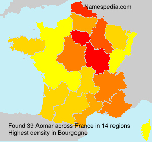 Surname Aomar in France