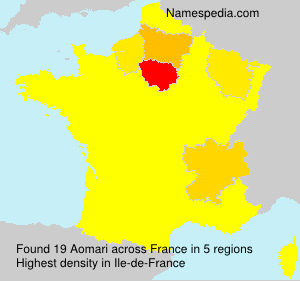 Surname Aomari in France