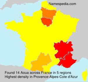 Surname Aoua in France