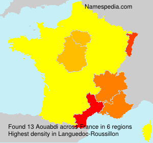 Surname Aouabdi in France