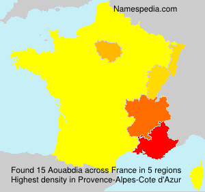 Surname Aouabdia in France