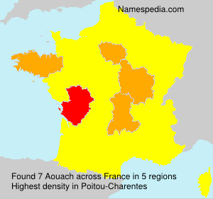 Surname Aouach in France