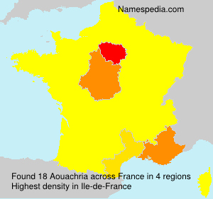 Surname Aouachria in France