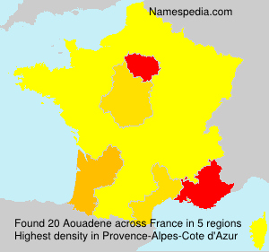 Surname Aouadene in France