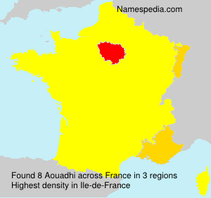 Surname Aouadhi in France
