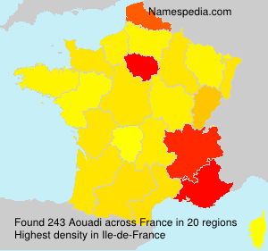Surname Aouadi in France