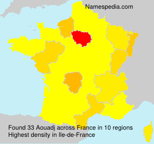 Surname Aouadj in France