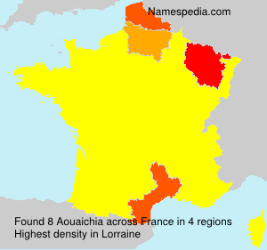 Surname Aouaichia in France