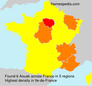 Surname Aouak in France