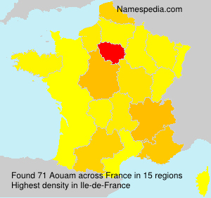 Surname Aouam in France