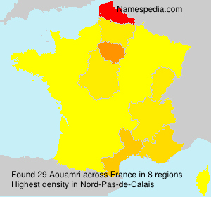 Surname Aouamri in France