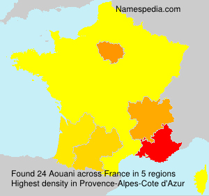 Surname Aouani in France