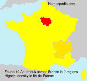 Surname Aouanouk in France