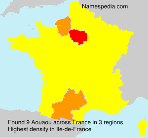 Surname Aouaou in France