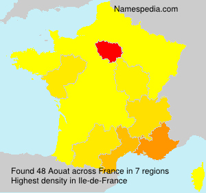 Surname Aouat in France