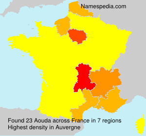 Surname Aouda in France