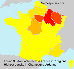 Surname Aoudache in France