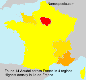 Surname Aoudai in France
