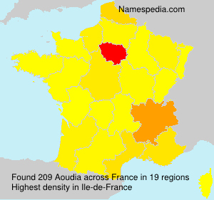 Surname Aoudia in France