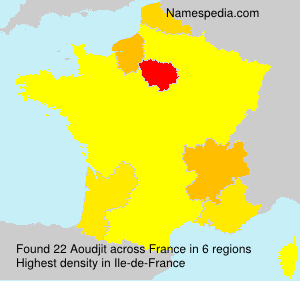 Surname Aoudjit in France