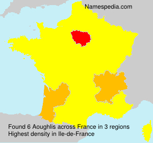 Surname Aoughlis in France