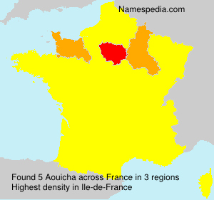 Surname Aouicha in France