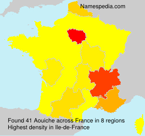 Surname Aouiche in France