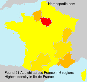 Surname Aouichi in France