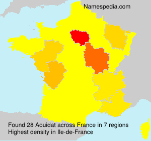 Surname Aouidat in France