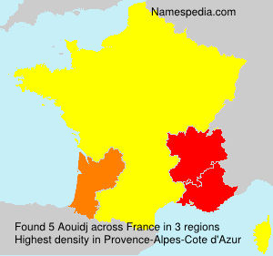 Surname Aouidj in France